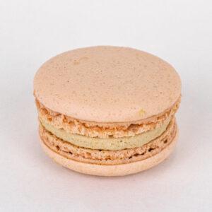 Handmade milk chocolate macaron